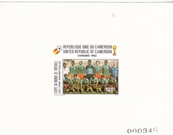 Camerun Nº 693 Al 696 En PRUEBAS Una Con Manchas - Coupe Du Monde