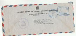1953 HONDURAS Census STATISTICS To UNITED NATIONS Statistics NY USA COVER Postage Paid Fraqueo Pagado Airmail Un - Honduras