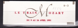 FRANCE Carnet Le Train Mozart N° 2614C11** - Booklets