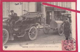 63-Coupe Gordon Bennett 1905 Organisée Par Les Frères Michelin-BURTON (AUTRICHE)remorquant Sa Mercédès-Voiture Ancienne - Sport Automobile