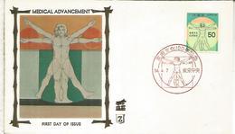 JAPON FDC 1979 MEDICINA MEDICINE HOMBRE DE VITRUBIO LEONARDO DA VINCI ARTE - Arte