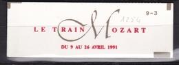 FRANCE Carnet Le Train Mozart N° 2614C11a** Sans Point Après Blois - Usage Courant