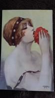 CPA ILLUSTRATEUR GAYAC 34 FEMME LA FLEUR AIMEE P J GALLAIS - Autres Illustrateurs
