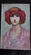 CPA ILLUSTRATEUR GAYAC 32 FEMME CHATTE MYSTERY  P J GALLAIS - Autres Illustrateurs