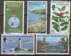 Guernsey 1975-1980 Selezione 5v (o) - Guernesey