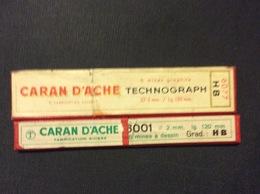 2 ETUIS MINES GRAPHITE CARAN D'ACHE Technographe-Mines A Dessin *HB (12 MINES)  GRAPHITE LEADS - Autres Collections