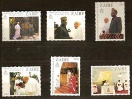Zaire 1981 OBCn° 1094-1099 *** MNH  Cote 15,00 Euro Visite Du Pape Jean-Paul II - Zaïre