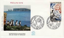 La Réunion. 1972. Iles Crozet Et Kerguelen. Yvert 1704. FDC 30 Janvier 1972. Cachet Saint-Denis - Réunion (1852-1975)