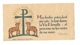 IMAGE PIEUSE..Souvenir Des 25 Ans De Prêtrise, Curé, Abbé DELBOULBES à REALVILLE (82), En 1949.. 2 Scans - Images Religieuses