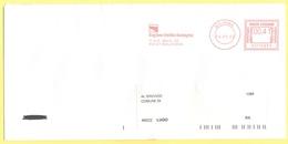 ITALIA - ITALY - ITALIE - 2002 - 00,41 EMA, Red Cancel - Regione Emilia Romagna - Viaggiata Da Bologna Per Lugo - Affrancature Meccaniche Rosse (EMA)