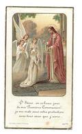 IMAGE PIEUSE..Communion De Denise MAIGNAN, Eglise De SAINT BOMER Les FORGES (61) En 1940.. 2 Scans - Images Religieuses