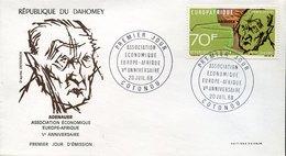 42878   Dahomey  Fdc 1968 Konrad Adenauer, - Celebrità