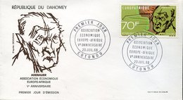 42878   Dahomey  Fdc 1968 Konrad Adenauer, - Célébrités