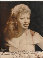 Rare Photo Originale Dédicacée De L'actrice  Claudine Dupuis Années 50  Format 18 X 24 Cm - Signed Photographs