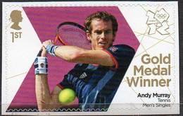GREAT BRITAIN 2012 Olympic Games Gold Medal Winners: Andy Murray - 1952-.... (Elizabeth II)