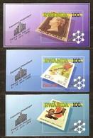 Rwanda Ruanda 1990 OCBn° Bloc 104-106 *** MNH Cote 12,50 Euro Belgica '90 - Rwanda