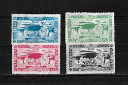 Francia 1913 Lote De 4 Viñetas De La Exposicion Filatelica Internacional De Paris Nuevos Con Charnela - Commemorative Labels