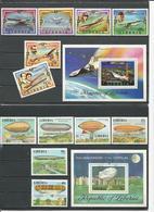 LIBERIA Scott 794-799 800, 801-806 C219 (12+2blocs) O Cote 8,40$ 1978 - Liberia