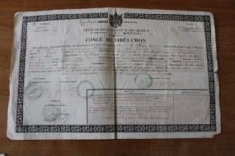 Conge De Liberation Empire Modifié  Soldat De Vindelle  Vienne - Documentos