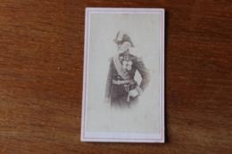 Cdv Photo Militaire General Second Empire  Bicorne Medaille - Guerra, Militares