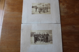 2 Photos   Second Empire  Militaire    Les Atilleurs Avec Leur Canon    Et Les Sous Officiers - Guerra, Militares