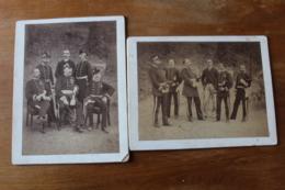 2 Photos   Vers 1880  Tenues Brodées  Identifiés  Par  De Nussac Gueret - Guerre, Militaire