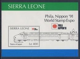 "Sierra Leone 1991 B157 = Mi 1613 ** ""Hikari"" Express Train / ""Hikari"" Bullet Train - Phila Nippon '91, Tokyo - Treinen"