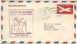 ESTADOS UNIDOS USA CC OPERACION HIGHJUMP ANTARTIDA ANTARCTIC USS PINE ISLAND 1947 - Expediciones Antárticas