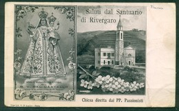 CARTOLINA - Z1280 RIVERGARO (Piacenza PC) Saluti Dal Santuario, Chiesa Diretta Dai PP. Passionisti, FP, Viaggiata, - Piacenza