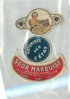 Ancienne Étiquette A4 LIMONADE SODA MARQUISE 1922 CHATEAU DE LA MOTTE ANCEL CUSSET VICHY - Etiquettes