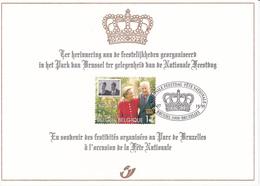 Carte Souvenir Fête Nationale 1999 - Albert II Et Paola - Timbre 2828 HK - 21/07/1999 - Souvenir Cards