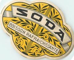 Ancienne Étiquette A4 LIMONADE SODA MARQUISE 1922 CHATEAU DE LA MOTTE ANCEL CUSSET VICHY - Altri