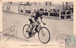 CPA Sport Cyclisme Vélo Coureur JACQUELIN Champion National  Cycling Radsport (2 Scans) - Cyclisme