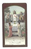 IMAGE PIEUSE..Communion De Thérèse BUREL, Eglise De LE THEIL (61) En 1934.. 2 Scans - Images Religieuses
