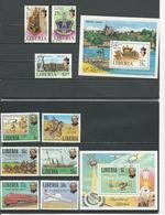 LIBERIA Scott 813-815 C221, 842-847 848 (9+2blocs) O Cote 10,80$ 1978-9 - Liberia