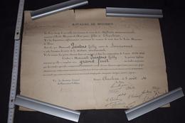 Diplôme Section Commerciale Belgique Charleroi 1939 - 1940 42.5cm X 32.5cm - Diploma & School Reports