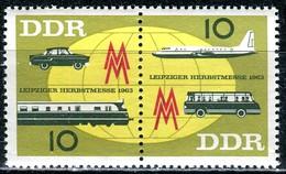 DDR - Mi 976 / 977 = WZd 94 - ** Postfrisch (F) - 10-10Pf          Leipziger Herbstrmesse 63 - Nuovi