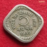 India 5 Paise 1959 B  KM# 16  Inde Indien Indie Indies - Inde