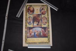 Admission Communion Solennelle France Ouville 1939 Image Pieuse 23cm X 37.5cm - Diploma & School Reports