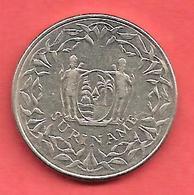 100 Cent , SURINAME , Cupro-Nickel , 1989 , N° KM # 23 - Surinam 1975 - ...