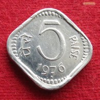 India 5 Paise 1976 B KM# 18.6 *V2  Inde Indien Indie Indies - Inde