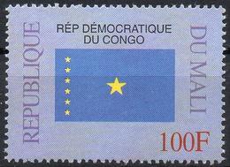 MALI 1999 - 1v - MNH** - Flag Of Democratic Republic Of Congo- Flags Drapeaux Fahnen Bandiere Banderas флаги - Timbres