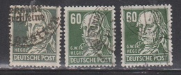 GERMANY Occupation Scott # 10N42 X 3 Used - Soviet Zone