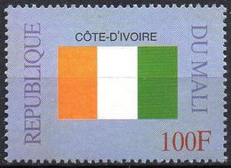 MALI 1999 - 1v - MNH** - Flag Of Ivory Coast - Côte D'Ivoire Flags Drapeaux Fahnen Bandiere Banderas флаги - Timbres