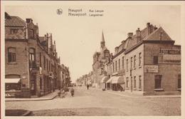 Nieuwpoort Langestraat Nieuport Rue Longue  (In Zeer Goede Staat) Muurreclame  BYRRH Chicoree Trappistes Vincart - Nieuwpoort