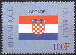 MALI 1999 - 1v - MNH** - Flag Of Croatia - Croatie Flags Drapeaux Fahnen Bandiere Banderas флагиCroatia - Timbres