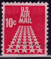 United States, 1975, Airmail. 50 Star Runway, 10c, Sc#C73, Used - Air Mail