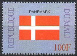 MALI 1999 - 1v - MNH** - Flag Of Denmark Danemark Flags Drapeaux Fahnen Bandiere Banderas флаги - Timbres