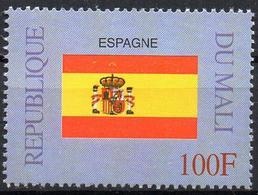 MALI 1999 - 1v - MNH** - Flag Of Spain Espagne España Flacs Drapeaux Fahnen Bandiere Banderas флаги - Timbres