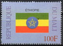 MALI 1999 - 1v - MNH** - Flag Of Ethiopia Ethiopie España Flacs Drapeaux Fahnen Bandiere Banderas флаги - Timbres